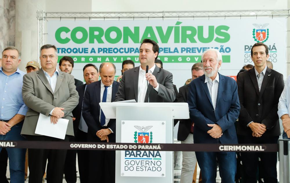 Governador Carlos Massa Ratinho Junior fechou escolas em prevenção ao coronavírus