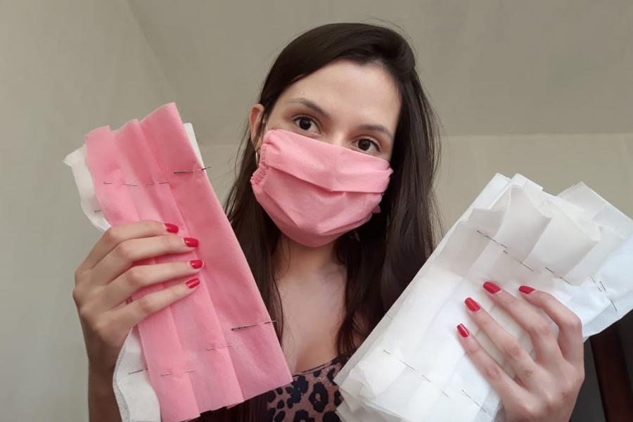 Estudantes e professores da UENP trabalham na confecção de máscaras de tecido para serem distribuídas gratuitamente para a comunidade