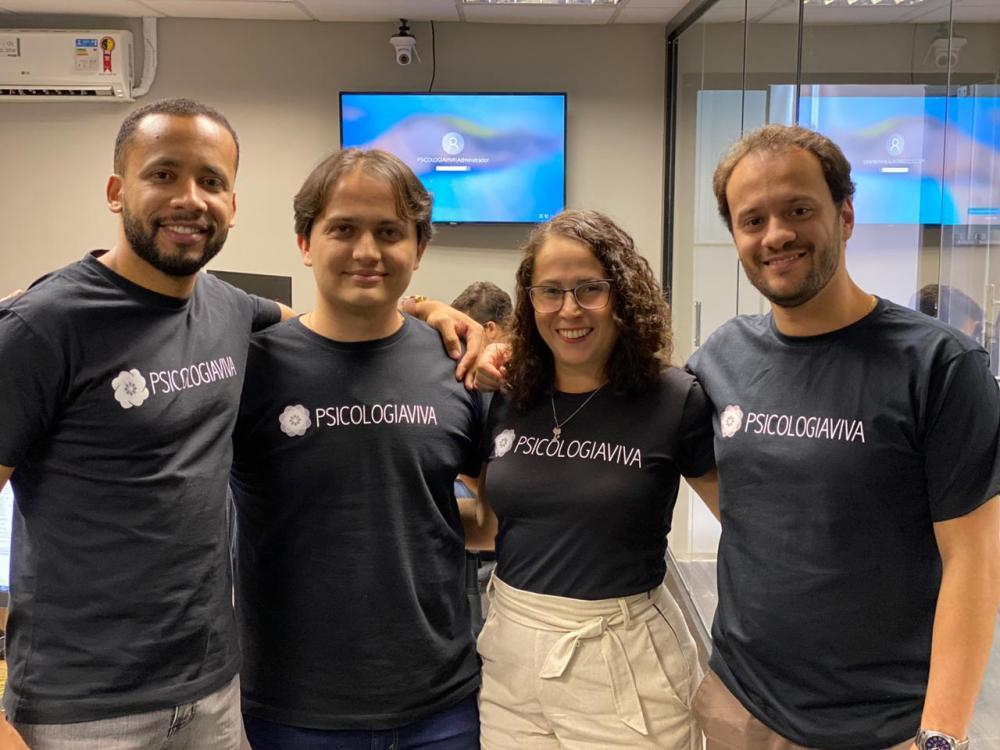 Equipe do Psicologia Viva, startup investida do BMG UpTech Divulgação