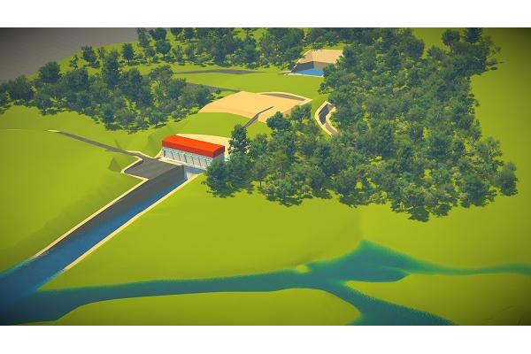 O novo projeto desloca o eixo da barragem 6 km para montante (rio acima) em relação ao original