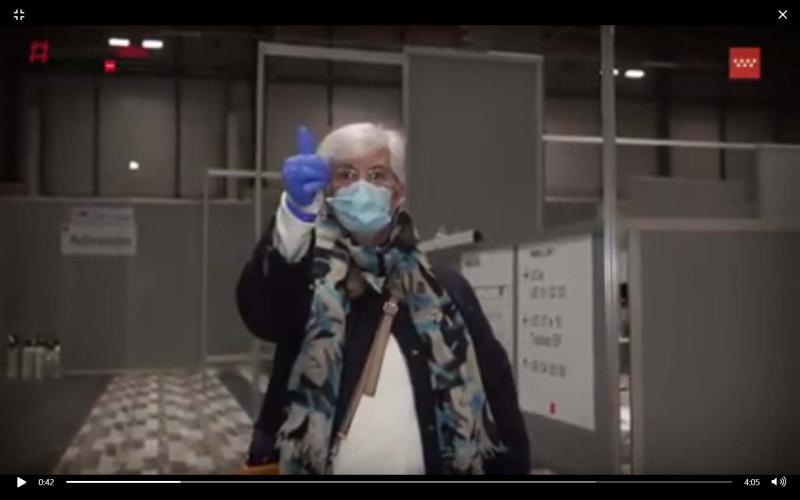Vídeo de equipe de saúde espanhola comemorando no Hospital de Campanha o fim do covid-19 emociona o mundo