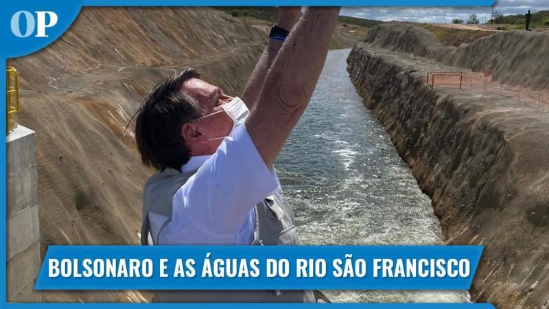 Bolsonaro aciona comporta e águas do São Francisco chegam ao Ceará
