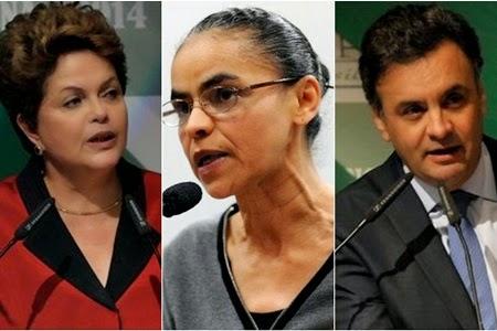 Marina abre dez pontos sobre Aécio e venceria Dilma no 2º turno