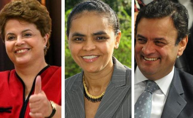 Ibope mostra recuperação de Aécio, mas Marina e Dilma ainda estão à frente