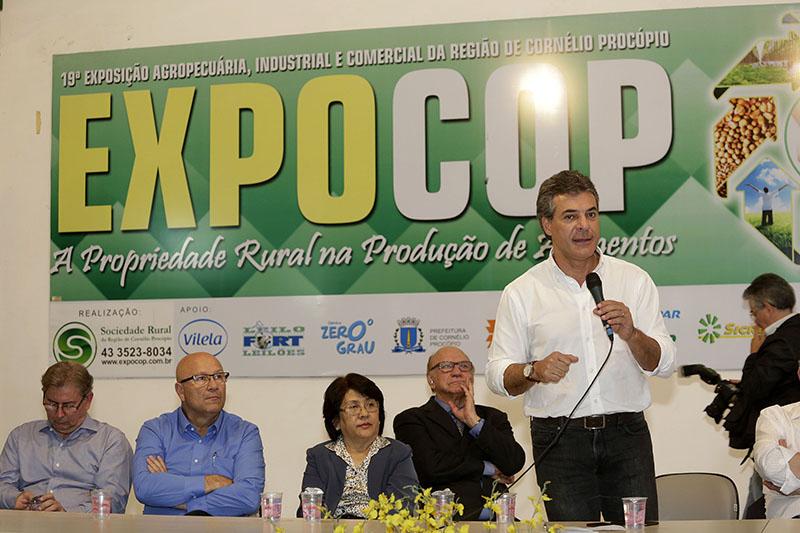Richa participa da Expocop e enaltece agronegócio do Paraná