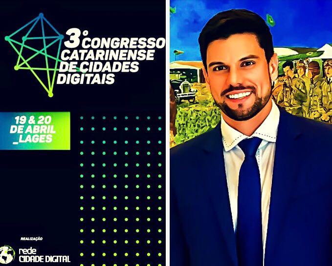 Prefeito Lucas Pocay participará de painel no 3º Congresso Catarinense de Cidades Digitais